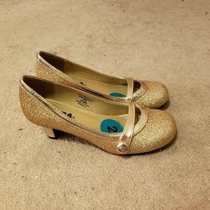 Soda Girls Glittery Gold Dress Shoes Size 2
